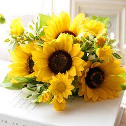 Umělá kytice slunečnic