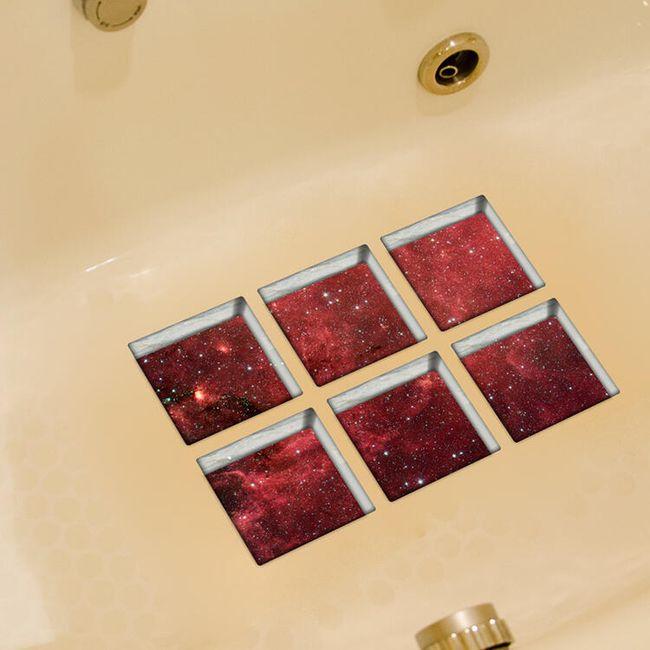 Protiskluzová 3D samolepka do vany - vesmír 1