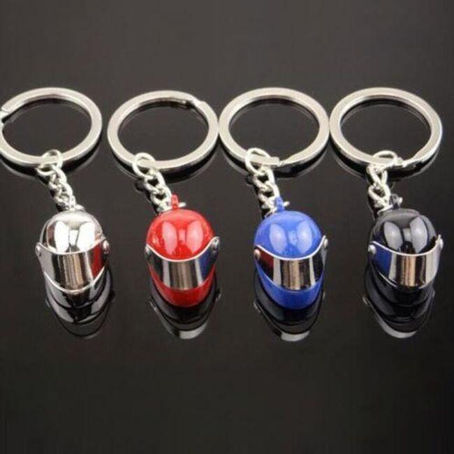 Přívěsek na klíče s motorkářskou helmou 1