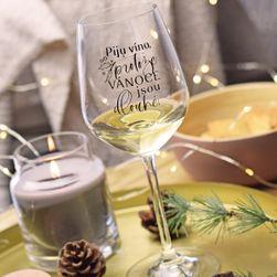 """Sklenice na víno- """"Protože Vánoce jsou dlouhé."""" SR_DS14697104"""