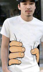 Majica s šaljivim potiskom - bela 4