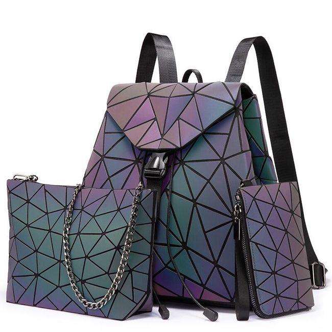 Zestaw damski - plecak, torebka i portfel Arialda 1