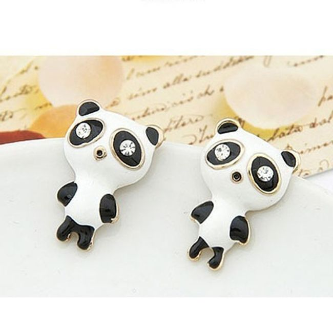 Aranyos panda alakú fülbevaló 1