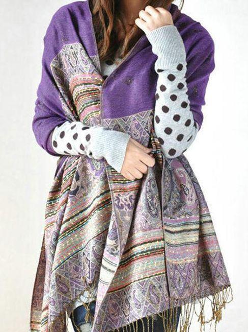Damski bawełniany szalik - w 6 kolorach 1