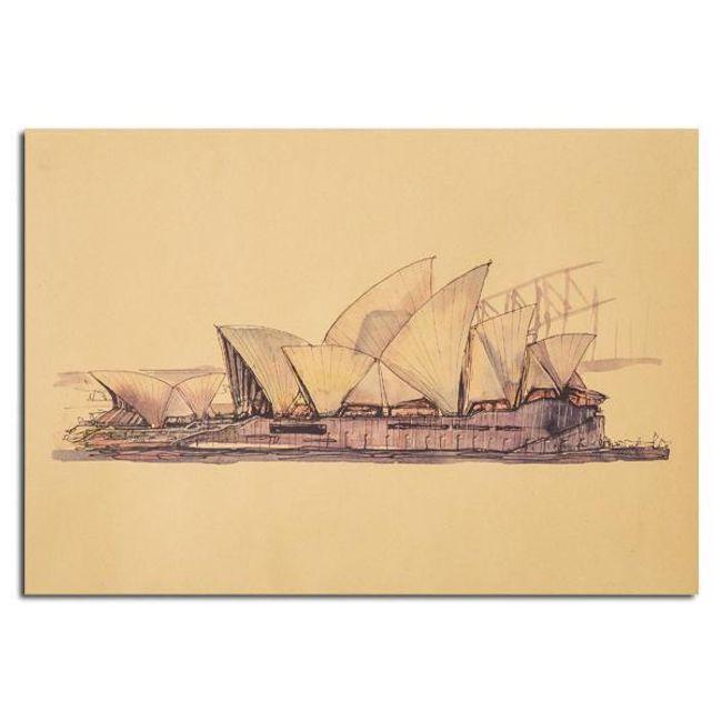 Plakát s operou v Sydney 1