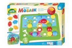 Mozaika klobouček příroda 3,2cm hladký 36ks + předlohy 7ks pro nejmenší v krabici 33x24x4cm 24m+ RM_43035632