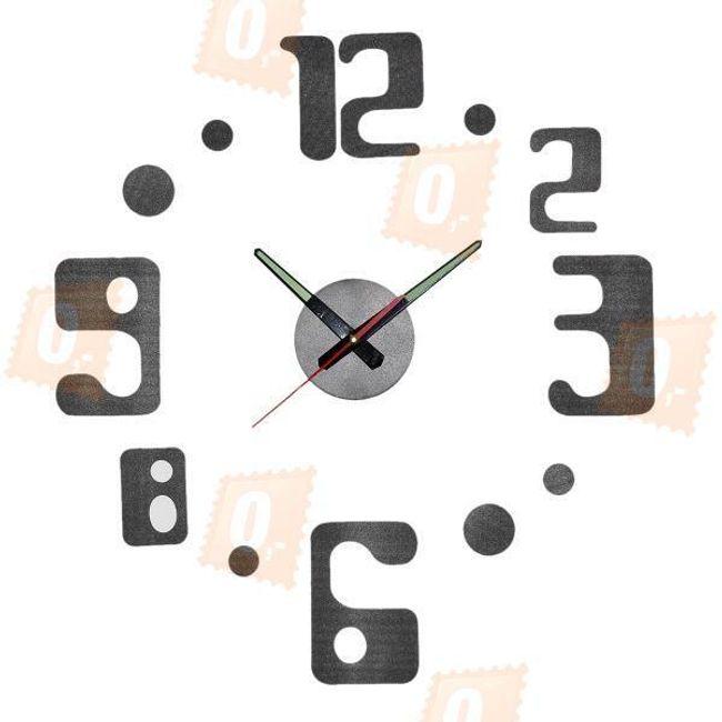 Designové nástěnné hodiny - černé 1