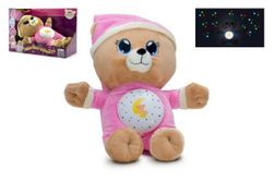 Medvídek Usínáček růžový plyš  32cm na baterie se světlem a zvukem v boxu 12m+ RM_00514003