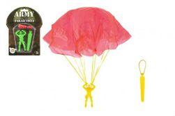Ejtőernyős figura egy ejtőernyővel, amely 9 cm 2 színnel repül a kártyán RM_00850288