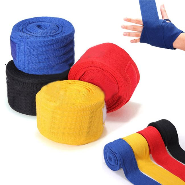 Bandaż bokserski 2,5 m - 2 sztuki, 5 kolorów 1