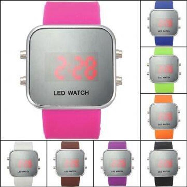 Zrcadlové LED hodinky - unisex 1