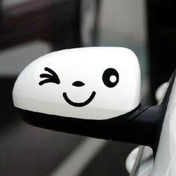 Nálepka na zrcátko - úsměv (Černá) SR_DS12636052