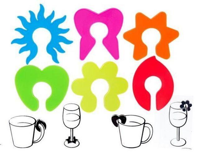 Barevné značky na sklenice 1
