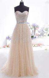 Długa sukienka wieczorowa bez ramiączek - 4 kolory