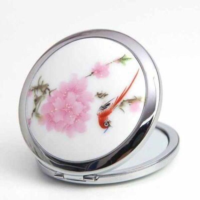 Kapesní zrcátko s designem květin 1