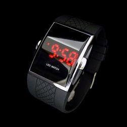 Digitální hodinky se silikonovým páskem - černá