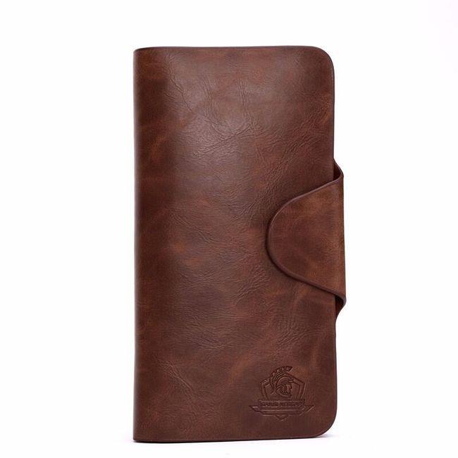 Pánská peněženka v hnědé barvě 1