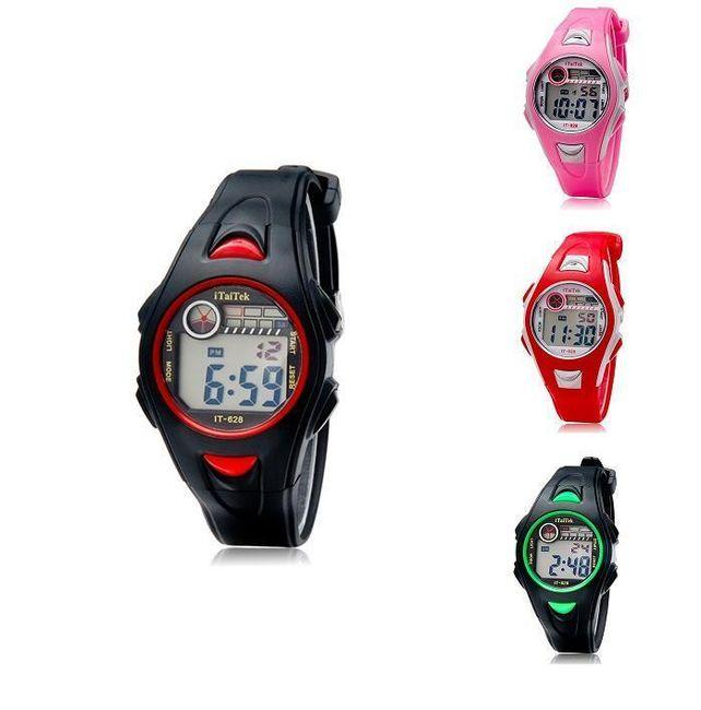 Sportowy cyfrowy zegarek silikonowy - 4 warianty kolorystyczne  1