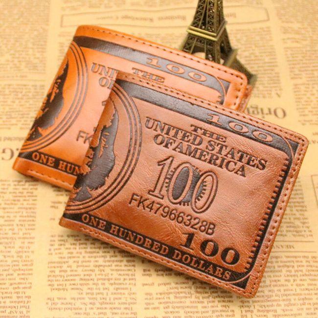 Portofel bărbați - 100 dolari 1