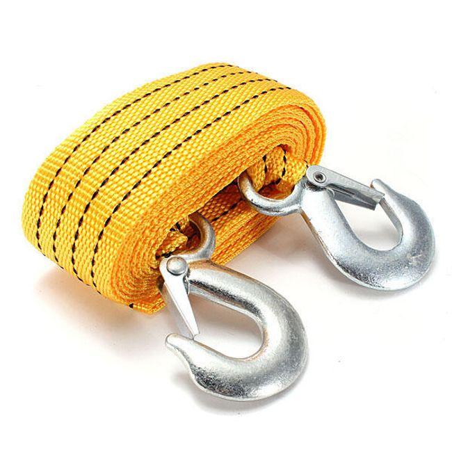 Буксировочный ремень с крючками - 2,8 м, 3 т 1
