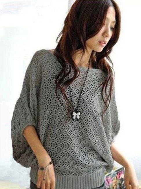 Dámský svetr s netopýřími rukávy - 3 barvy 1