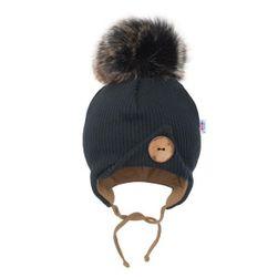 Dojčenská zimná čiapočka bordó RW_cepicka-great-NBLol2