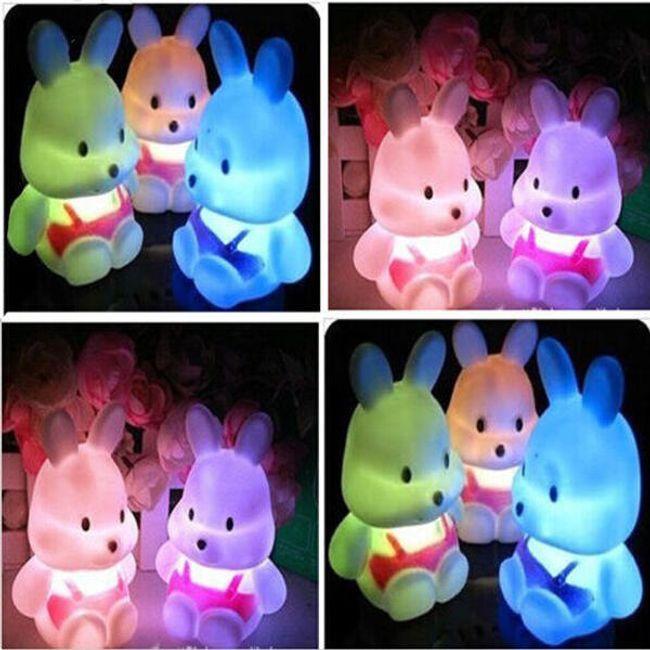 Детская LED лампа в форме кролика 1
