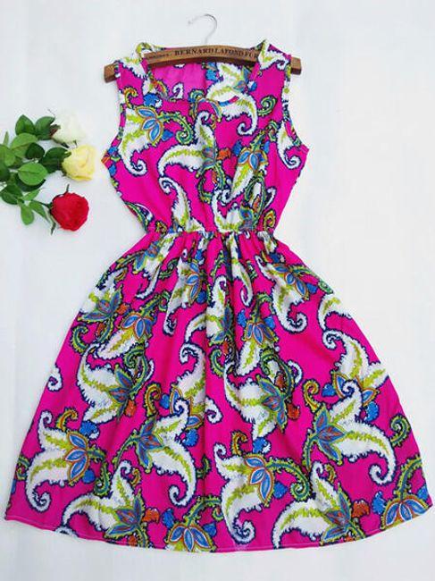 Ženska poletna obleka z različnimi vzorci - 21 variant 1