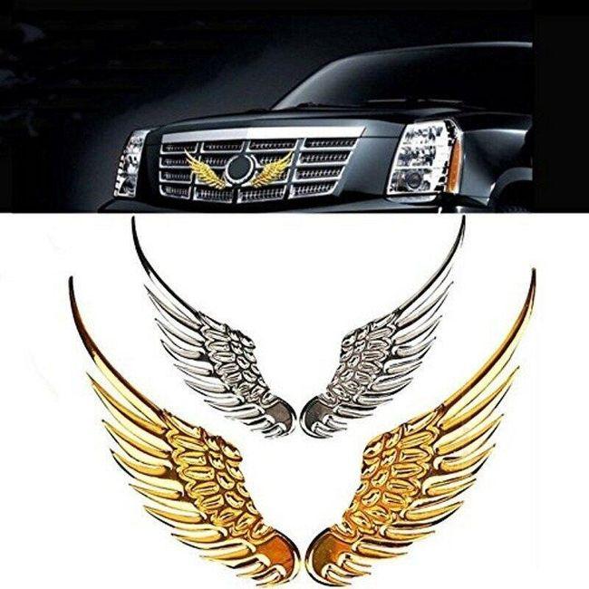 Autocolant auto 3D - aripi de înger 1