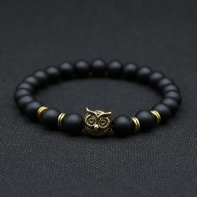 Črna zapestnica s sovo 1