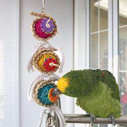 Hračka pro papoušky a andulky