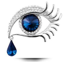 Elegantní brož s motivem andělského oka se slzou
