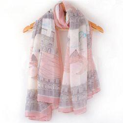 Modna różowa chusta