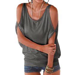 Damska koszulka plus size z otworami na ramionach - 11 kolorów