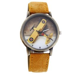 Дамски часовник със самолет