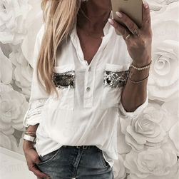 Ženska košulja sa sjajnim džepovima