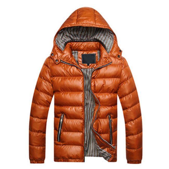 Pánská zimní bunda Arnaldo - Tmavě oranžová-M 1