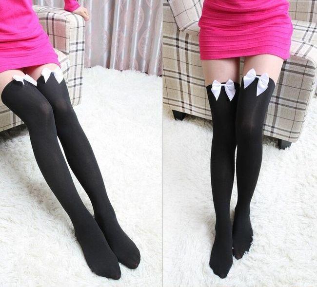 Ženske nogavice z loki 1