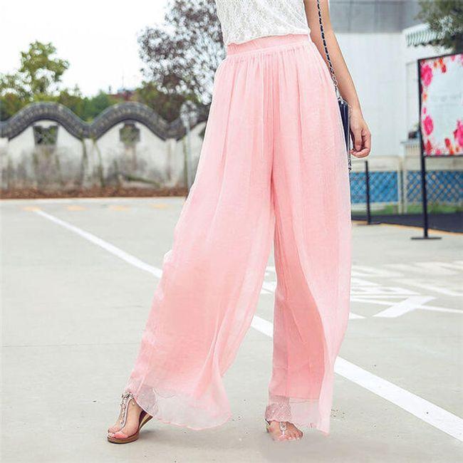 Zračne hlače iz šifona - več barv 1