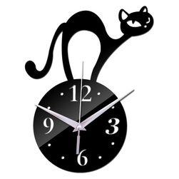Zegar ścienny z kotem - 3 warianty