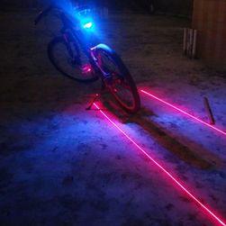 Tylna lampka laserowa LED na rower