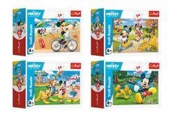 """Minipuzzle 54 dielikov Mickey Mouse Disney / Deň s priateľmi 4 druhy v krabičke 9x6,5x4cm 40ks v boxe """" RM_89054190"""