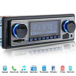 Autoradio RETRO BT, MP3, USB