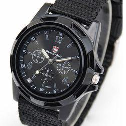 Férfi katonai óra - fekete