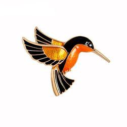 Dámská brož v podobě kolibříka