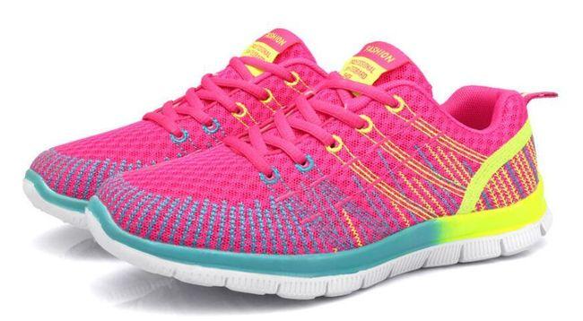 Dámské ombré botasky na sport - různé barvy 1
