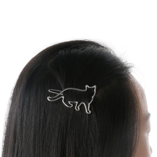 Spona do vlasů s kočičí siluetou 1