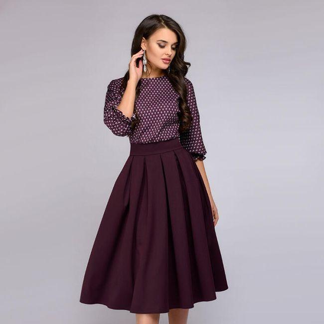 Ženska vintage haljina sa skraćenim rukavima - 2 boje 1