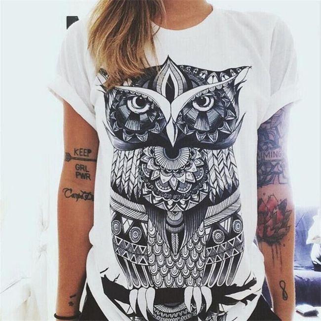 Ženska majica z originalnim tiskom - 6 variant 1