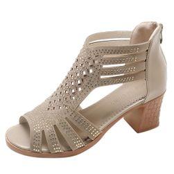 Dámské boty na podpatku Calantha Béžová - 40